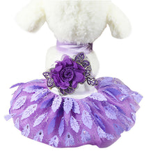 Beautiful Dog Dress Wedding  Pet  For Small Lace Cat Skirt