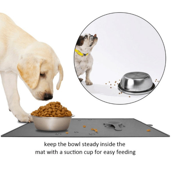 Pet Dogs Beds Feeding Mat Pad Supplies Anti-Slip Floor Suction Cups