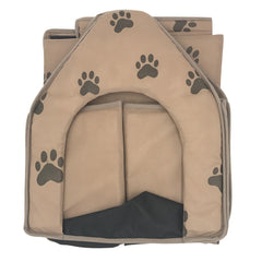 Warm Foldable Dog House Bed Small Footprint Sleeping Bag Nest Cave