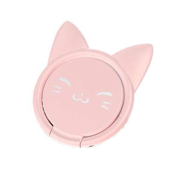 Universal Electroplating Magnetic Ring Car Cute Kitten Mobile Phone Bracket