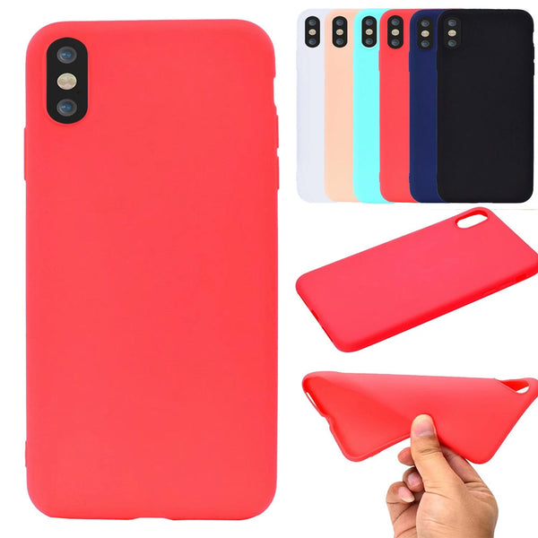 Silicone Matte Skin Case Cover For iPhone XS Max