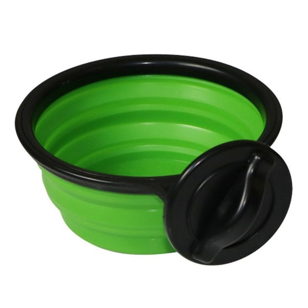 Stainless Steel Folding Silicone Dog Bowl Outfit Portable Travel Bowl