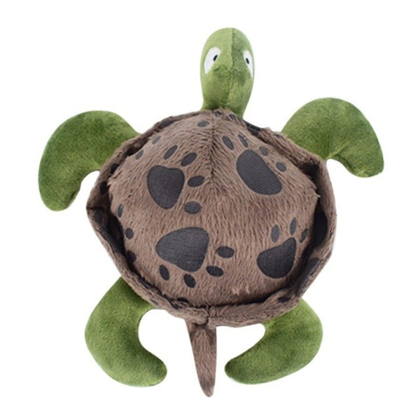 Soft Pet Puppy Dog Squeaky Chew Toy Funny Plush Sea Turtle Doll