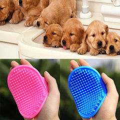 Pet Dog Cat Bath Brush Comb Rubber Glove Hair Fur Grooming