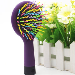 Colorful Rainbow Color Needle Plastic Comb Pet dog cat hair soft