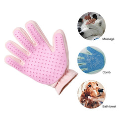 Silicone Dog Brush Glove Deshedding Gentle Efficient Pet Grooming