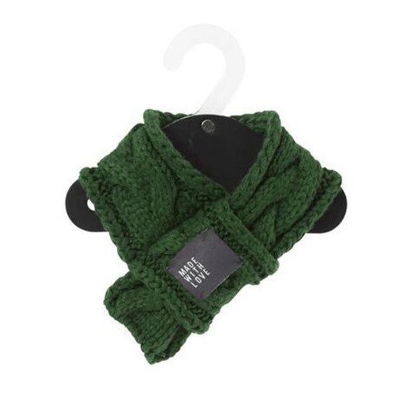 Warm Winter Pet Dog Scarves Knitting Thicken Scarf Shawl Knit