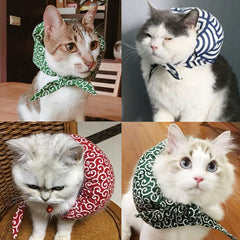 Japanese Style Pet Cloth-wrappers Shaped Collar for Dogs