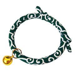 Pet Wave Pattern Collar Adjustable Bell Decorative Collar For Cat Dog