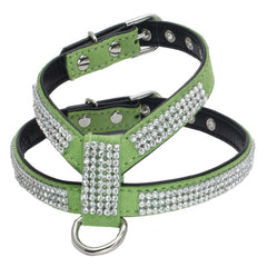 Rope Pet Dog Puppy Adjustable Pet Dog Cat Leads Rhinestone Diamond Leash