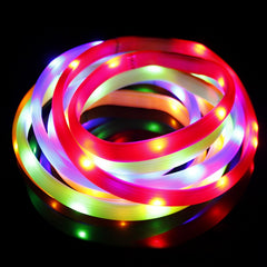 New LED Pet Dog Collar For Safety Night Walking Usb Rechargeable