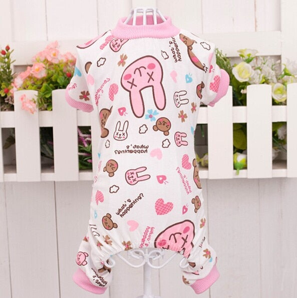 Soft Cozy Dog Jumpsuit Pajamas Pet Cat Star Rabbit