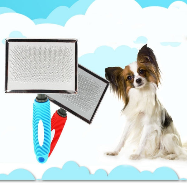 Pet Grooming Supplies Dog Stainless Steel Comb with Thread Handle for Removing