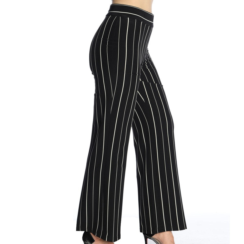 Michael Tyler - Striped Wide Leg Pant