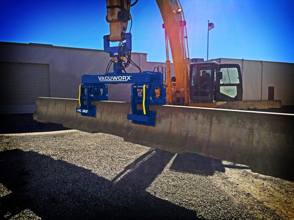 New Vacuworx HL B2 Hydraulic Lifter Offers a Better Way to Handle Oversized Concrete Road Barriers