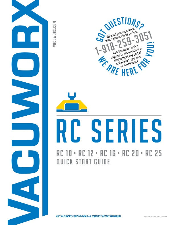 Vacuworx RC Quick Start Cover