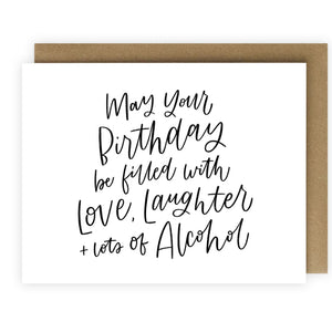 Love, Laughter & Alcohol Card
