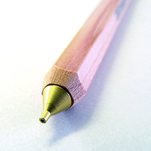 Wooden Mechanical Pencil w Pencil Top Eraser Natural