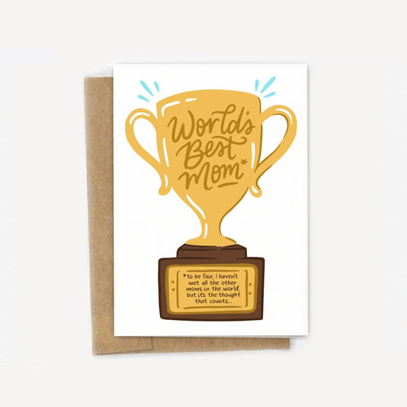 World's Best Mom Card