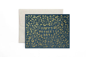 Mother's Day Navy Floral Card