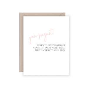 You're Pregnant Card