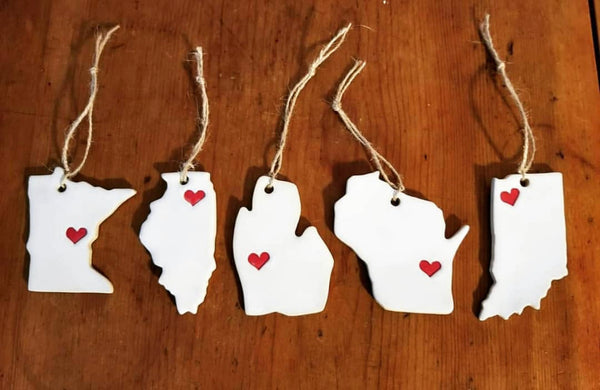 State Pottery Ornaments