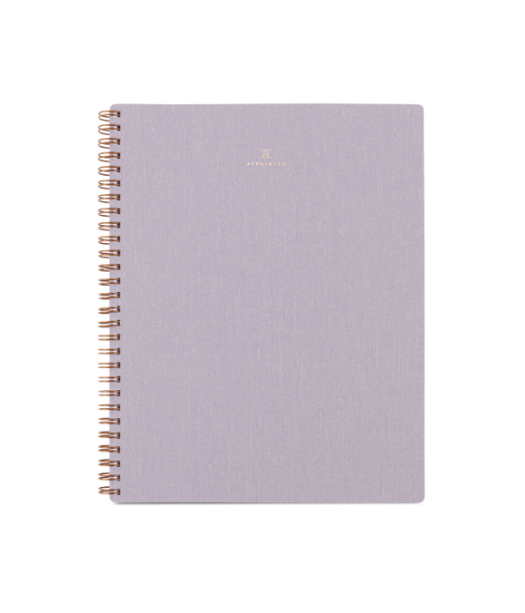 Notebook - Lavender Gray, Grid