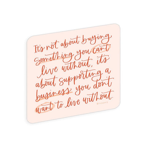 Support Small Business Sticker