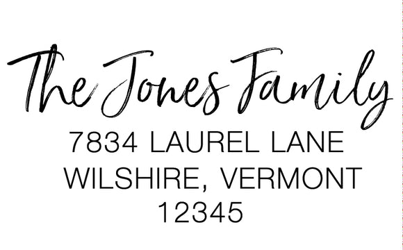 Saturday Script, Return Address Stamp