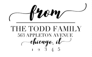 Swoop Serif, Return Address Stamp