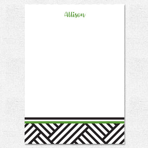 Patchwork Green Notepad