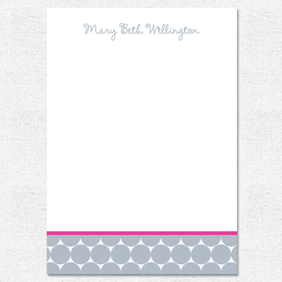 Gray Big Dots Notepad