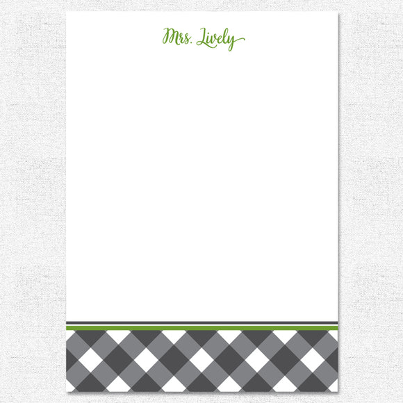 Black Buffalo Plaid Notepad