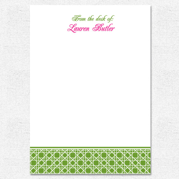 Green Caning Notepad