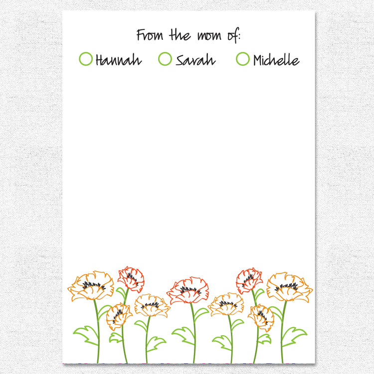 Poppies Notepad