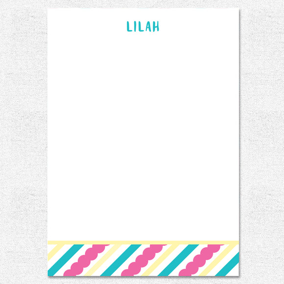 Scallop Stripe Notepad