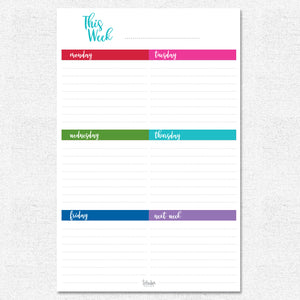 This Week Planner Pad