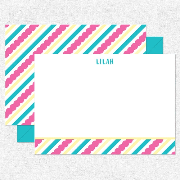 Scallop Stripes Stationery