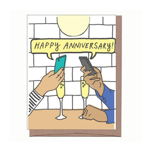 Anniversary Phones Card