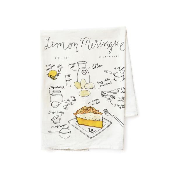 Pie Recipe Tea Towel