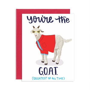 You're the GOAT Card