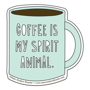 Coffee Spirit Animal Sticker