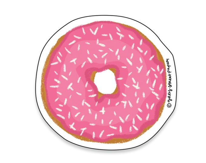 Pink Donut Sticker