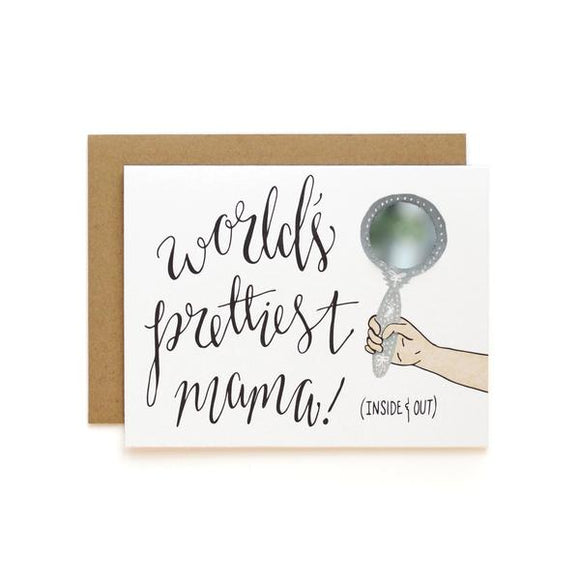 Prettiest Mama Mirror Card