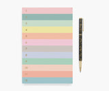 Numbered Colorblock Notepad