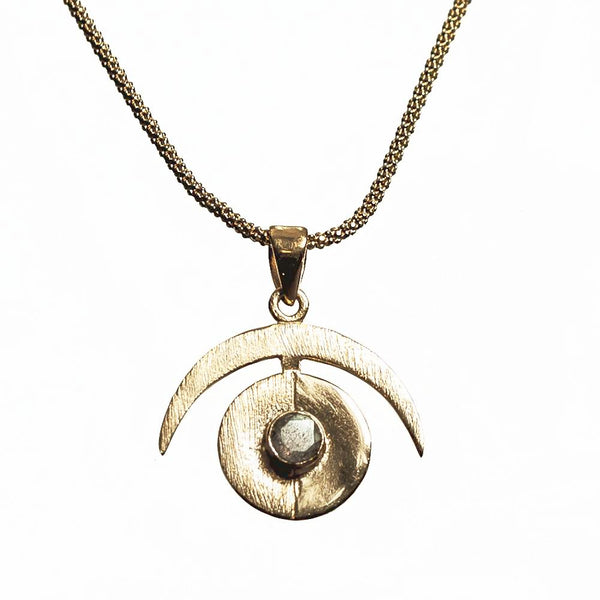 Operation Eyesight Necklace - Gold & Labradorite