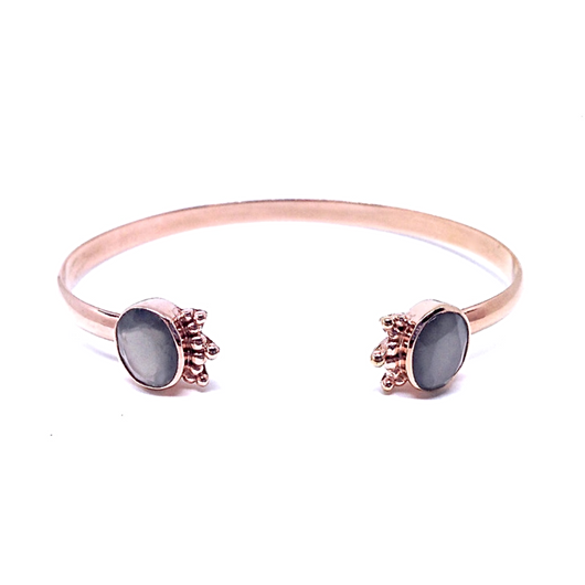 Aniari Bangle - Grey Moonstone & Rose Gold