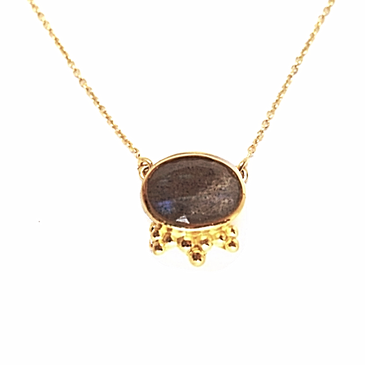 Aniari Necklace - Labradorite & Gold
