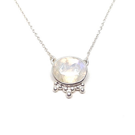 Aniari Necklace - Moonstone & Silver