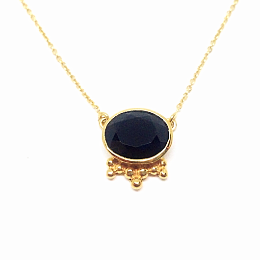 Aniari Necklace - Onyx & Gold
